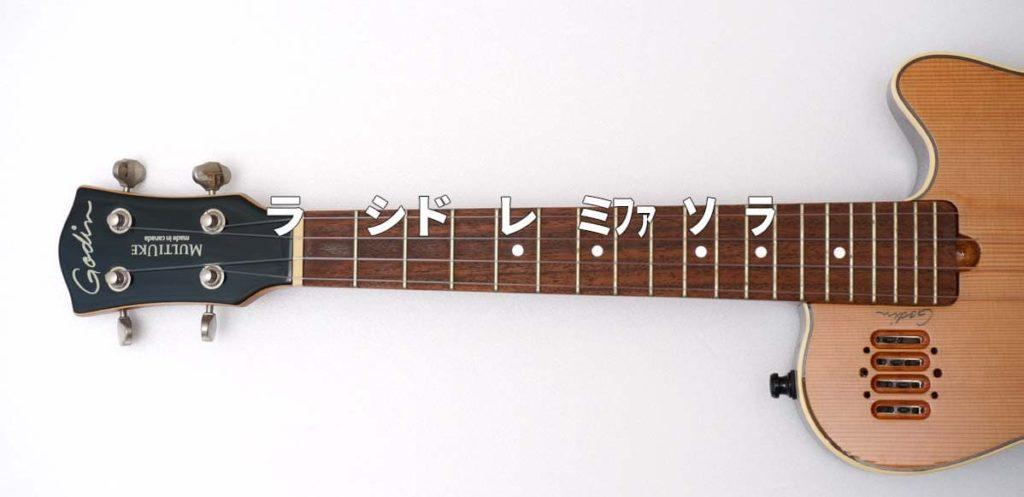 ウクレレの1弦だけで弾けるスケール