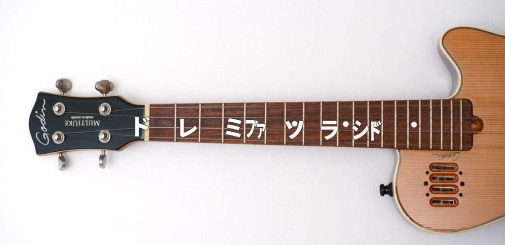 ウクレレの3弦だけで弾けるスケール