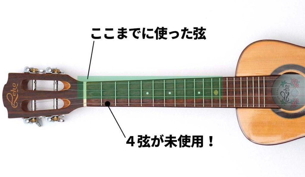ウクレレソロでよく使う弦・使わない弦